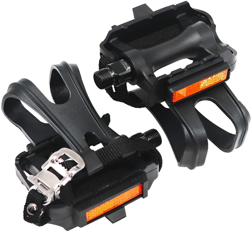 Shaboo prints bicycle pedals with clips and straps