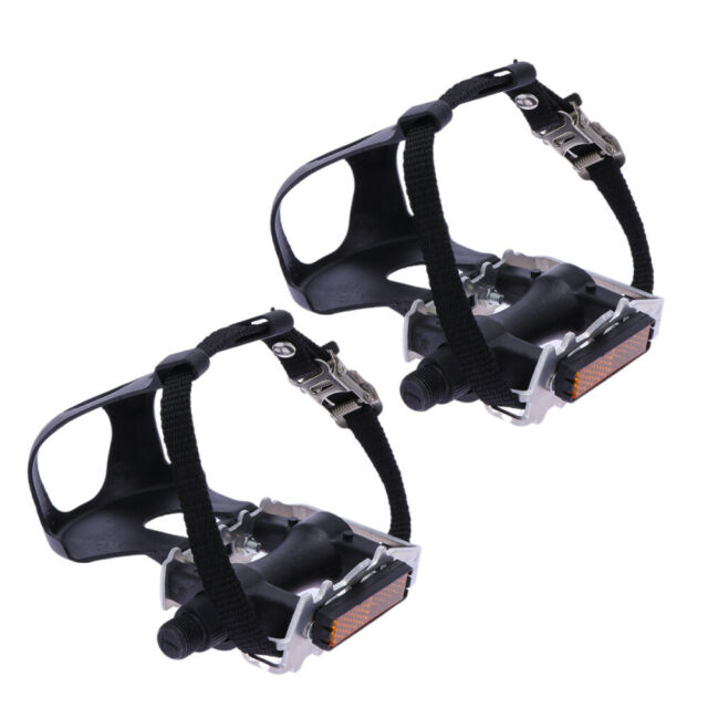 YBEKI Bike Pedals with Clips and Straps